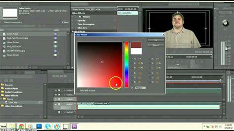 adobe premiere pro green screen green screen tutorial basic editing tutorial adobe