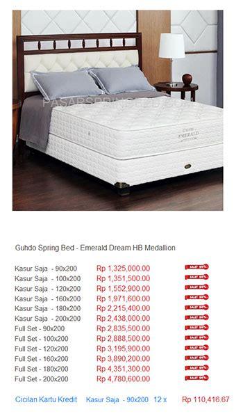 Daftar Kasur Sorong Guhdo harga guhdo bed harga bed termurah di