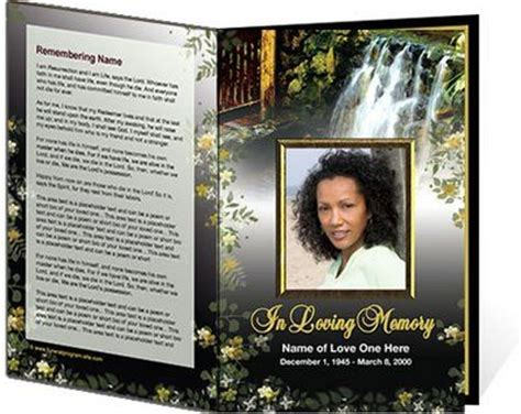 Free Funeral Program Templates Free Printable Funeral Program Templates Welcome To Our Website Create Free Obituary Templates