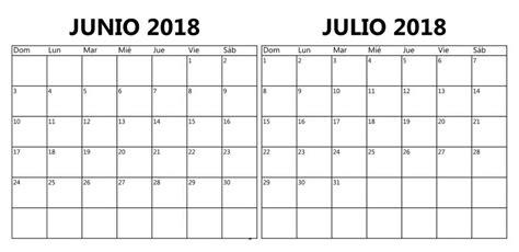 Calendario Word 2018 Calendario Junio 2018 Para Imprimir Pdf Excel Word