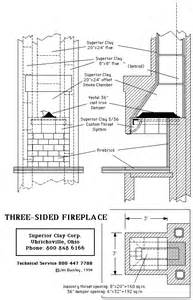 Fireplace Plans Multi Sided Fireplace Plans Amp Instructions
