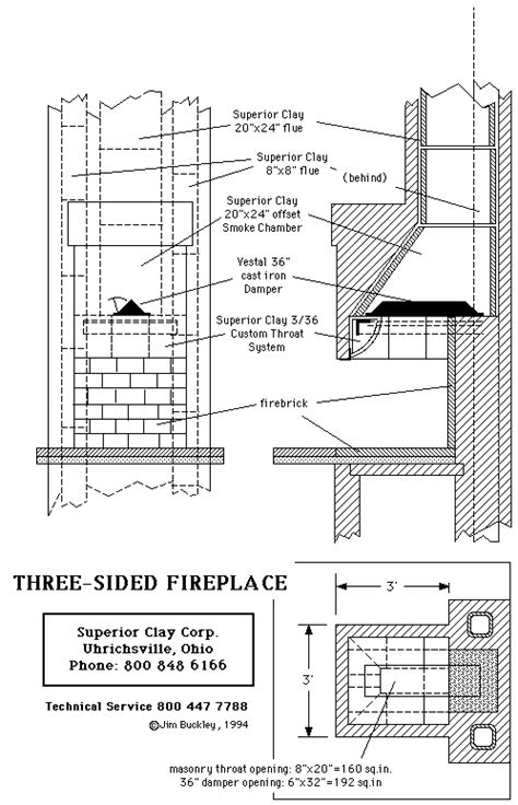 Fireplace Plans | multi sided fireplace plans instructions