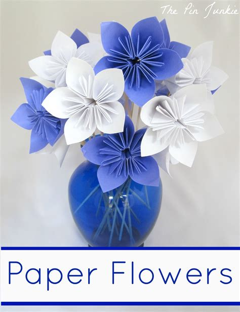 How To Make A Flower Using Paper - paper origami flowers the pin junkie