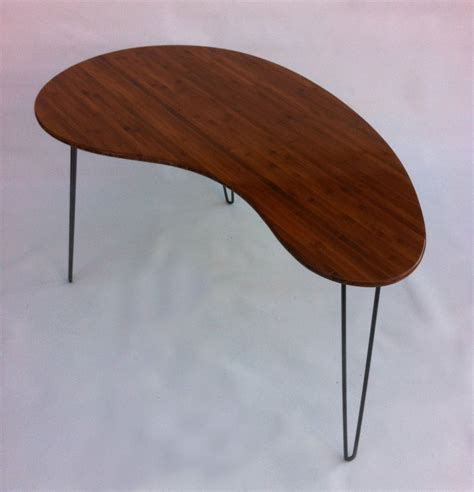 Hand Made Kidney Bean Shaped Modern Desk Atomic Era Kidney Bean Shaped Desk