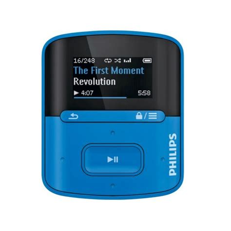 colour mp3 philips gogear raga 4gb mp3 media player blue colour