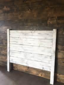 White Wooden Headboard Shiplap Headboard Distressed White