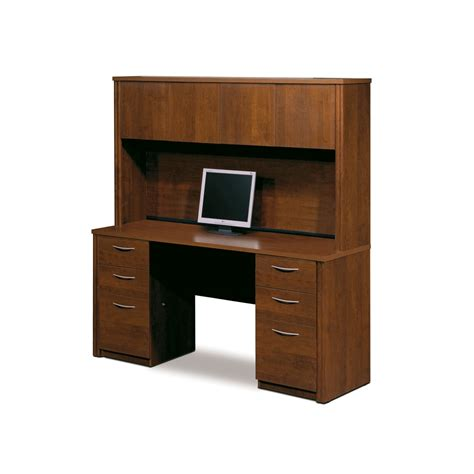 credenza hutch embassy credenza and hutch kit in tuscany brown