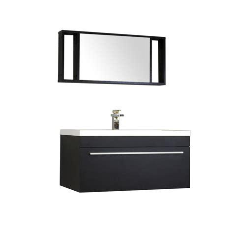 Modern Black Bathroom Vanity Alya Bath At 8090 36 Quot Single Modern Bathroom Vanity Black