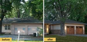Home Exterior Makeover ranch style home exterior makeover for the home pinterest