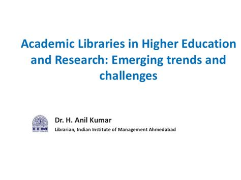 Mba In Higher Education And Research Management In Usa by Academic Libraries In Higher Education And Research