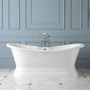 pedestal bathtub 72 quot langly cast iron slipper pedestal tub