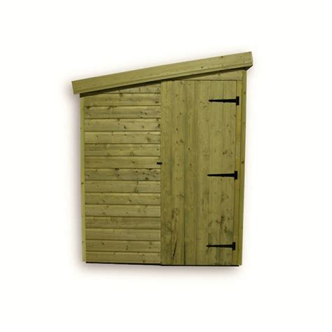 Shed With Side Door by 8 X 4 Windowless Pressure Treated Tongue And Groove Pent