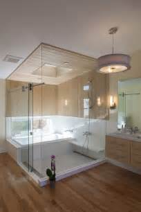 an ofuro soaking tub and shower combination for a