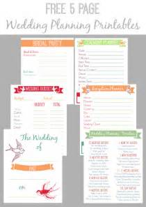 Free Wedding Planner Templates Download 30 Page Wedding Planning Printable Set Bread Booze Bacon
