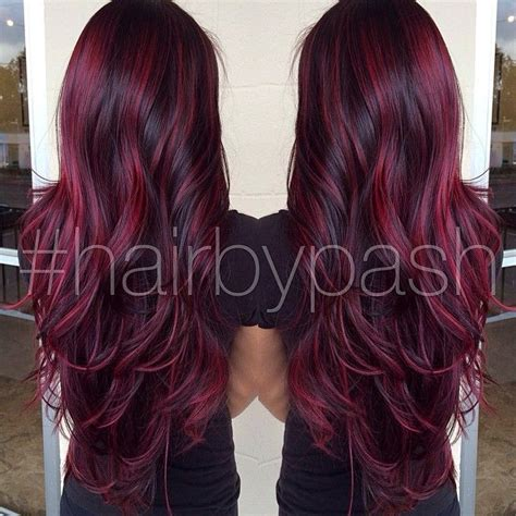 cute burgundy highlights 17 best ideas about red highlights on pinterest red