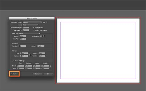 printable area indesign set a print bleed in indesign adobe indesign cc tutorials
