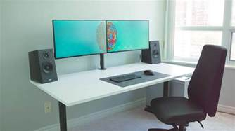 Desk For Dual Monitor Setup The Ultimate Dual Monitor Desk Setup For Your Creative Workflow 4k Shooters