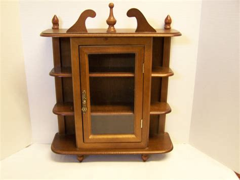 small table top curio cabinet vintage curio cabinet footed for table top or by