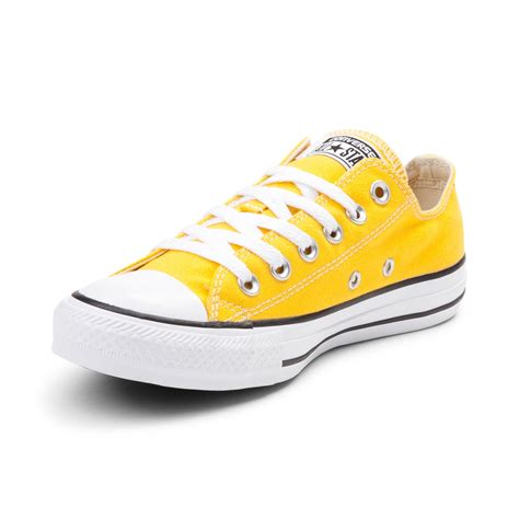 light yellow converse shoes converse chuck taylor all star lo sneaker yellow 398231