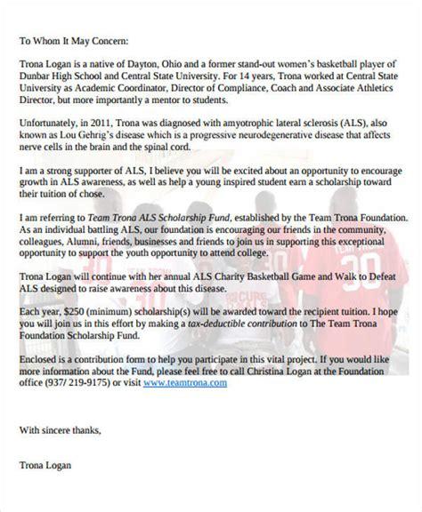 Scholarship Fundraising Letter Donation Letter Exles