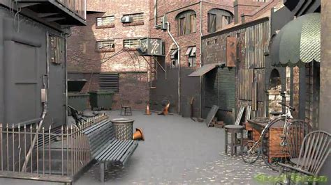 Gothic Interior Design 3d alleyway environment animation youtube