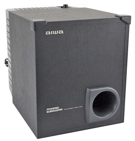 aiwa ts w35u 50watt 8 quot home theater powered subwoofer