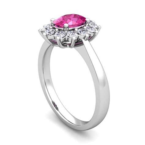 build diana engagement ring with gemstones diamonds
