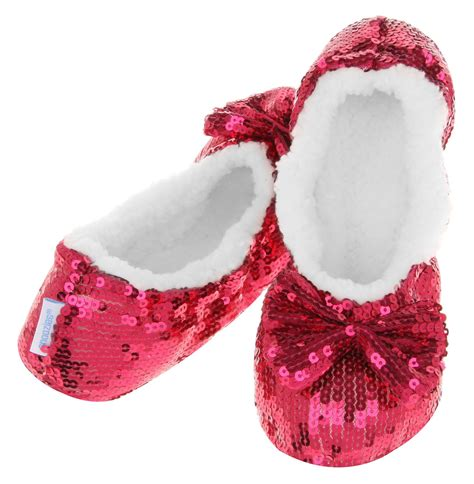 slippers snoozies bling ballerina sequin snoozies slippers uk 3 4 5 6