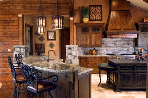 Rustic Cabin Kitchen Decor by Rustic And Traditional Designs With Hues