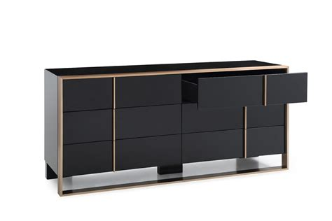 black bedroom dressers and chests domus cartier modern black brushed bronze dresser