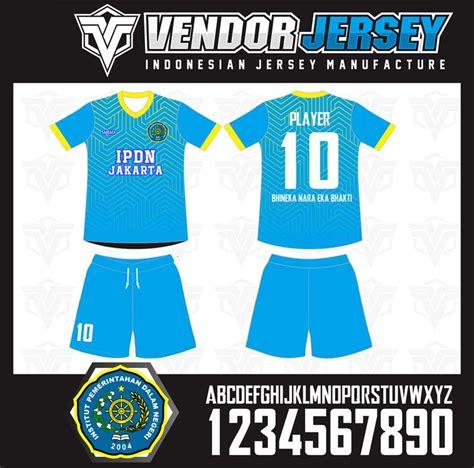 Baju Jersey Futsal Kuning by Bikin Baju Futsal Ipdn Jakarta Warna Biru List Kuning