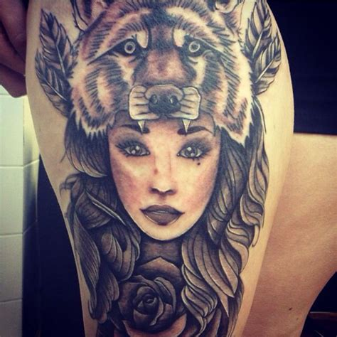 tattoo girl animal head girl with wolf head tattoo meaning s 246 k p 229 google