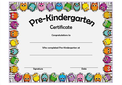 pre k award certificate templates pre kindergarten certificate template 4 best 10 templates