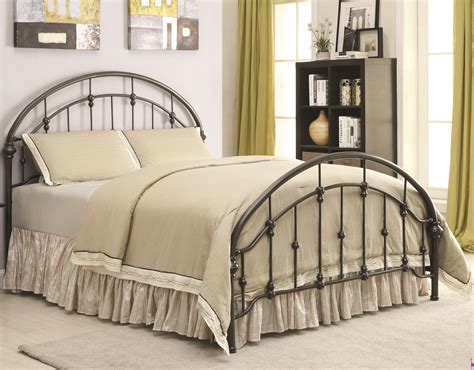 bedrooms with metal beds iron beds and headboards metal curved bed coaster 300407
