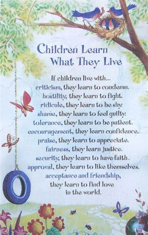 children learn what they live 187 one powerful step