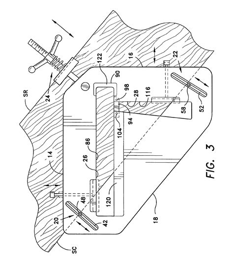 patent us6748668 variable tread and rise router template