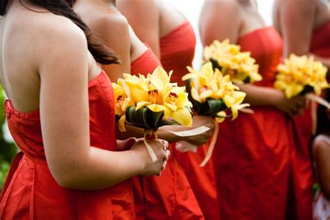 Bridesmaid Bouquet Yellow by Bouquet Bridal Yellow Orchid Bouquets