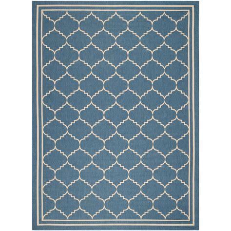 4 X 5 Area Rugs Safavieh Courtyard Blue Beige 4 Ft X 5 Ft 7 In Indoor Outdoor Area Rug Cy6889 243 4 The
