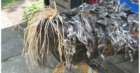 duck boat blind netting making the diy duck boat of your dreams pics