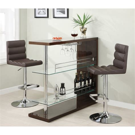 Dining Room Table With Wine Rack by Cappuccino Pub Table With Wine Rack 100166 Dining Room