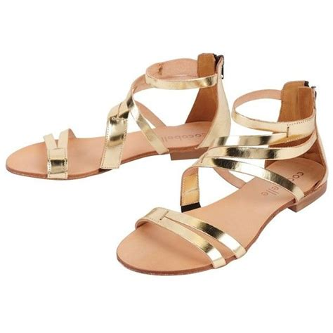 golden flat shoes cocobelle mikonos sandals 7 765 php liked on polyvore
