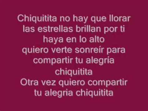 letras de abba letras de canciones de abba chiquitita abba espa 241 ol letra 1979 youtube