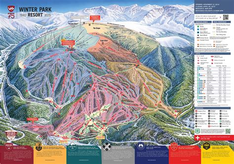 Winter Park Sweepstakes - winter park trail map piste map panoramic mountain map