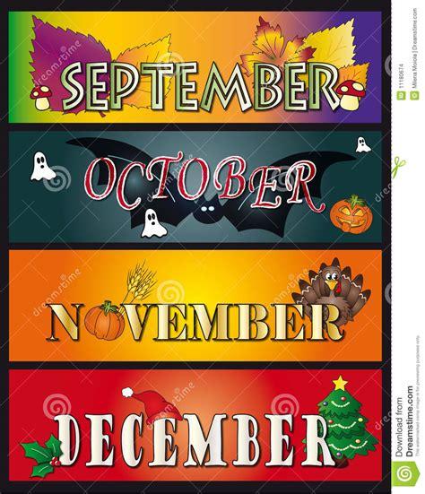 Imagenes De Octubre Noviembre | septiembre octubre noviembre diciembre stock de