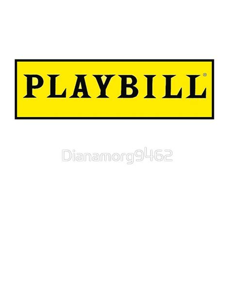 playbill template word quot playbill quot stickers by dianamorg9462 redbubble