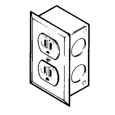 duplex electrical receptacle kit 230 volts 20 s ac