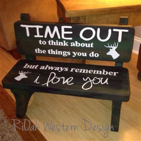 time out bench toddler hunter inspired time out bench rioak western design