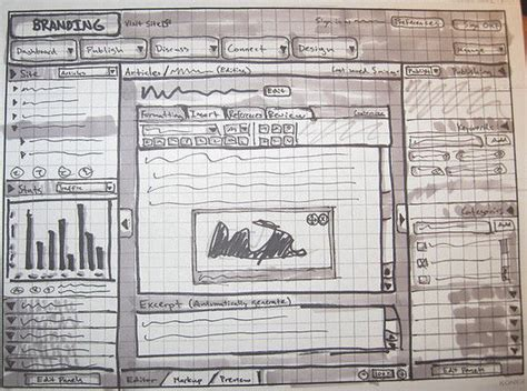 Sketches And Wireframes by 40 Exles Of Web Design Sketches And Wireframes