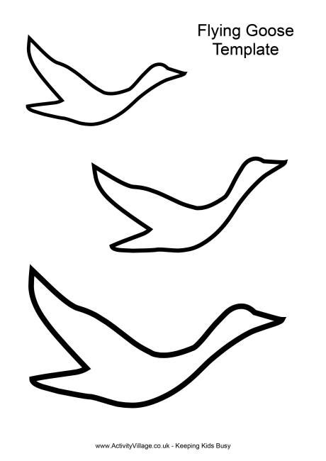 bird outlines crafts