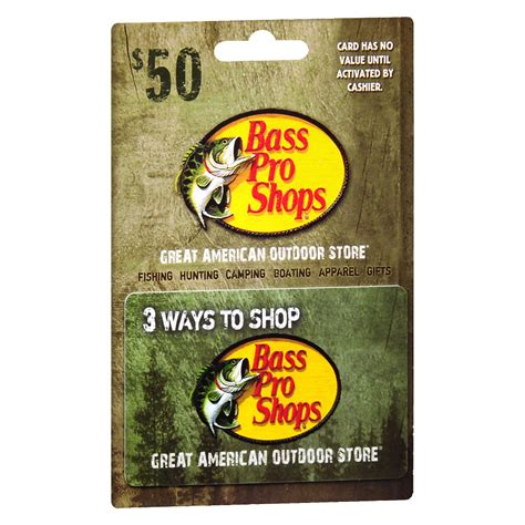 Bass Pro Shops Gift Card Balance - bass pro shops 50 gift card walgreens